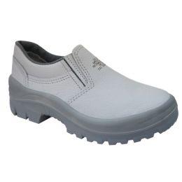 Sapato em Couro Branco sem bico - kadesh - C.A 35582