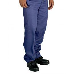 Calça em Brim Azul Marinho Elástico Total