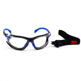Óculos 3M Solus incolor 1000 Kit com haste+elástico AR/AE - C.A 39190