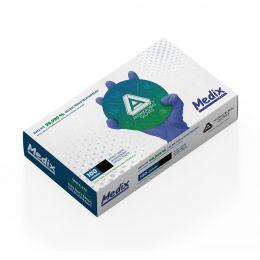 Luva Nitrílica Azul Antimicrobiana Medix TAM M - Caixa com 100 un.