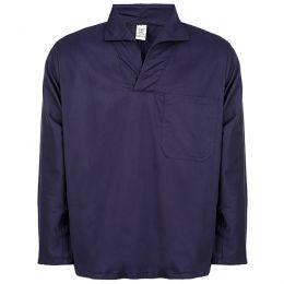 Camisa em Brim Azul Marinho Manga Longa