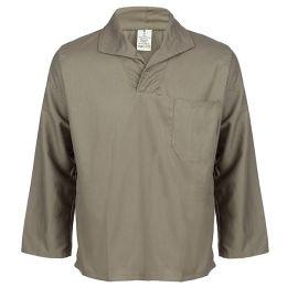 Camisa em Brim Cinza Manga Longa