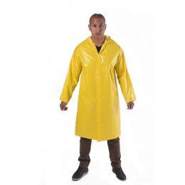 Capa de Chuva em PVC Forrado Amarela com Capuz