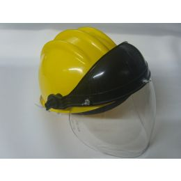 Capacete Aba Frontal c/ jugular e Protetor Facial Apolo Acoplado
