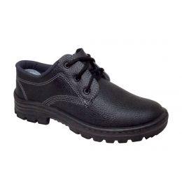Sapato em couro com Cadarço bico de Aço - Cartom