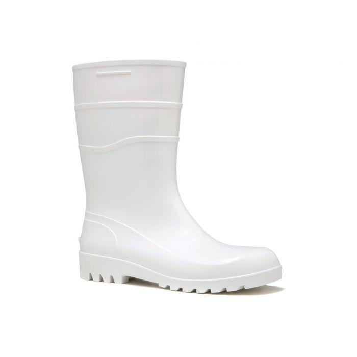Bota de PVC Branca Forrada Cano Médio 28 cms - Bracol - C.A 37456