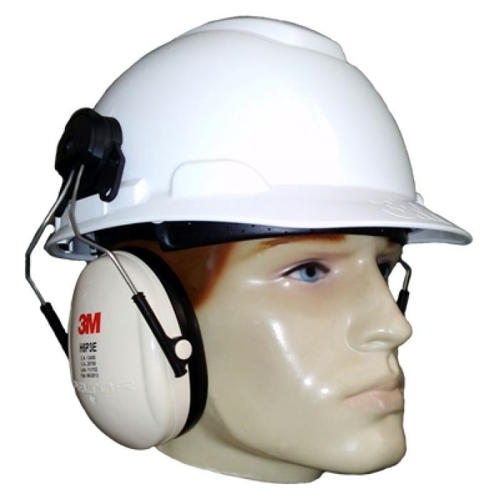 Capacete 3M H700 c/ Abafador Peltor H6P3E