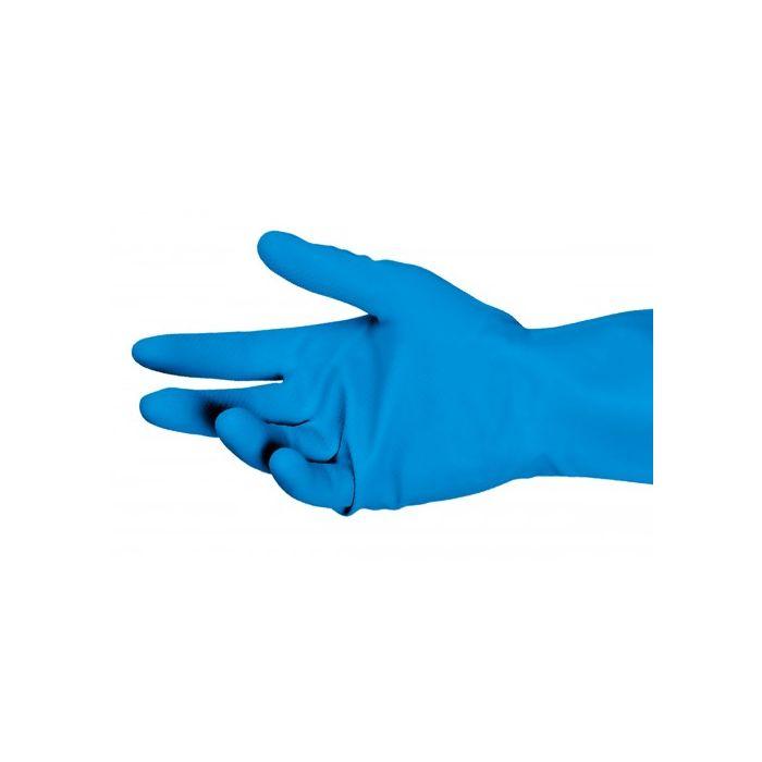 Luva de Látex Silver Forrada Azul - Danny