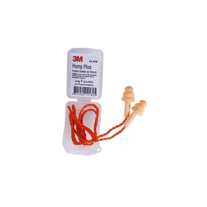 Plug de Silicone 3M Pomp Plus 18 Db com cordão - C.A 5745