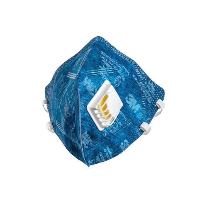 Máscara Descartável 9812 3M PFF1 Azul com válvula